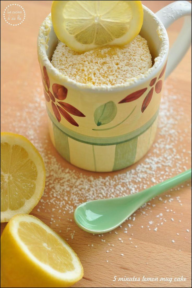 5 minutes lemon mug cake – Torta in tazza al limone in 5 minuti | La cucina di zia Ale