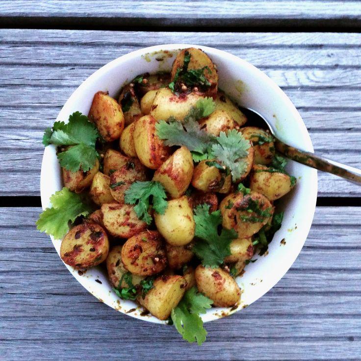 Kartoffeln mit Koriander, Kreuzkümmel, Zitrone und Kurkuma