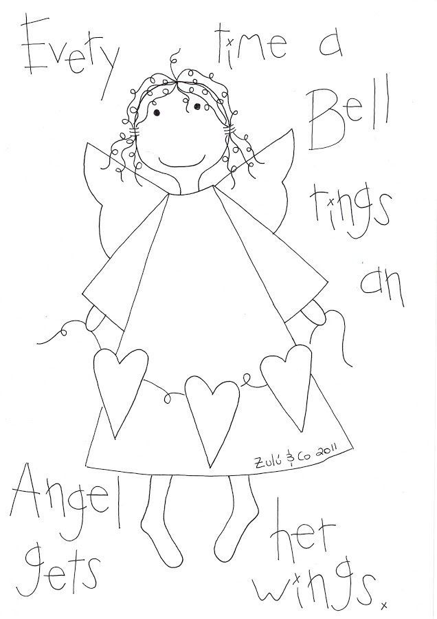 Angel Gets Her Wings Stitchery