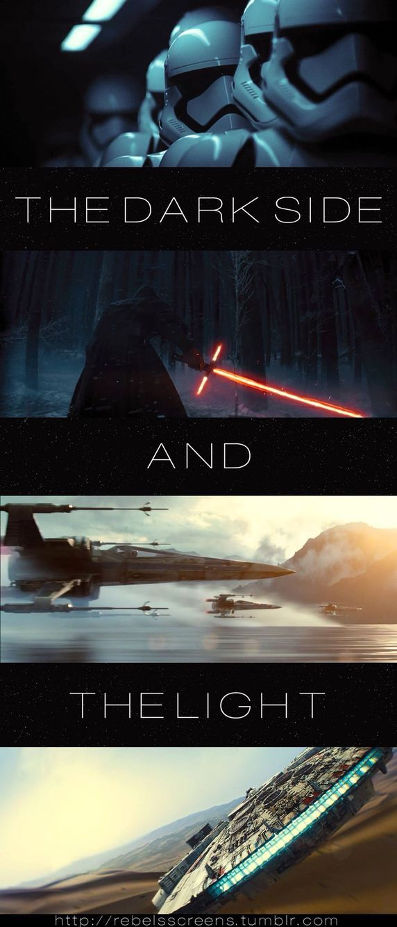 The Light versus the Dark.... Its your choice pick the side that you are on. Remember what happened to Anakin.. hint!
