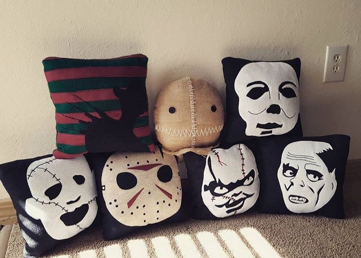 Horror pillows from moodyvoodies