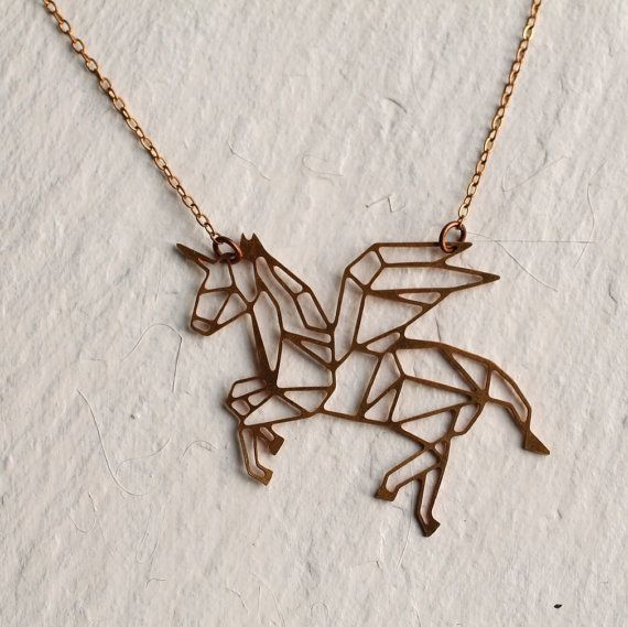 This delicate and beautifully detailed necklace features a unicorn which has…