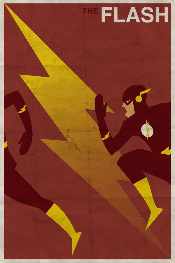 Vintage Superhero Illustrations 7 Total