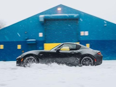 The Mazda MX-5 Miata RF Doesn't Take Snow Days Off