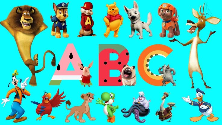Learn Alphabet with Cartoon Animals for children | ABC Cartoon Animals Names and Sounds