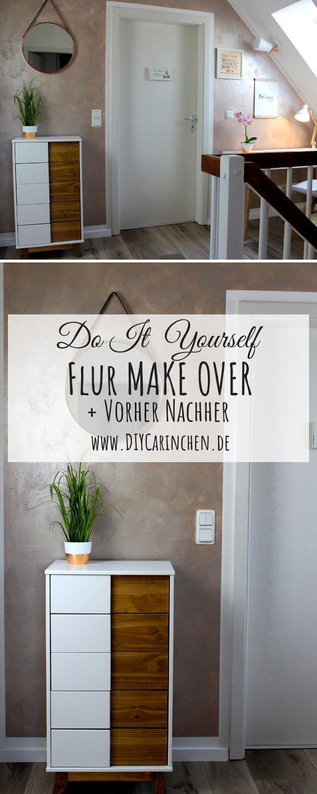 Diy Flur Make Over Inklusive Vorher Nachher Streich Tipps Wandfarbe Flur Einrichtung