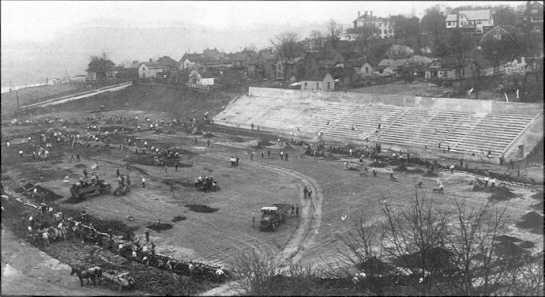 Neyland Stadium under construction in 1921