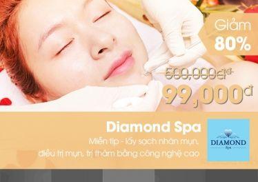 Diamond Spa - Voucher trị mụn, trị thâm công nghệ cao (miễn tip) chỉ 99k