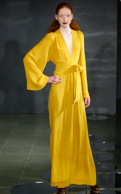 vintage ossie clark - no print but o don't care it's yellow and i love it!!! :)