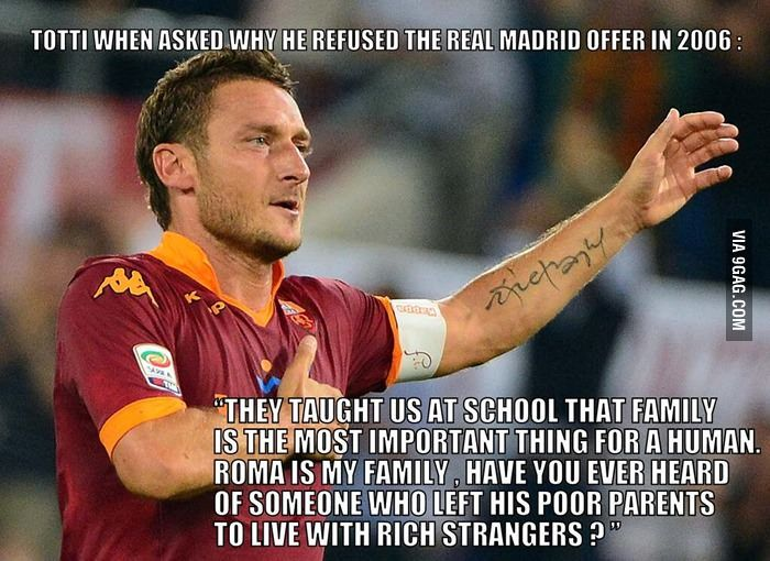 Francesco Totti. Respect.