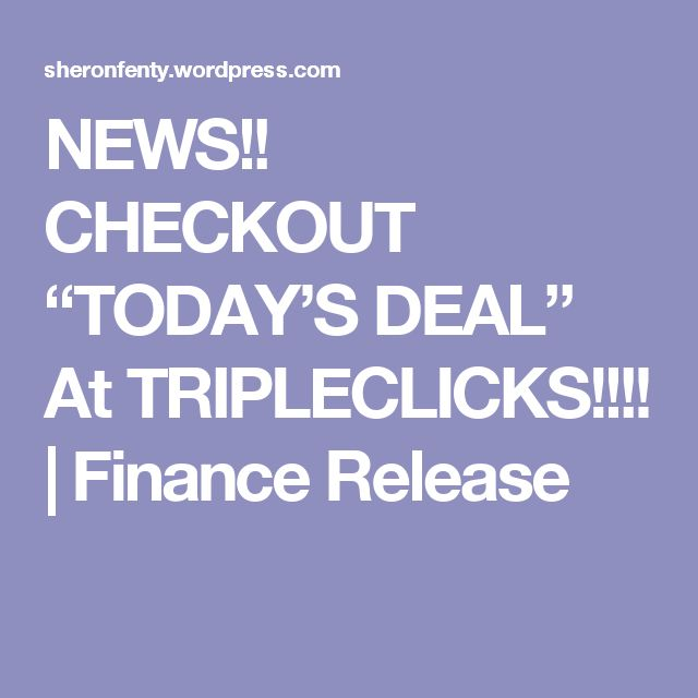 "NEWS!! CHECKOUT ""TODAY'S DEAL"" At TRIPLECLICKS!!!! 
