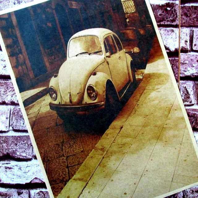Старый автомобиль ретро плакаты крафт-бумаги, Старый плакат кафе украшения ностальгический ядро ничья плакаты для стен наклейки