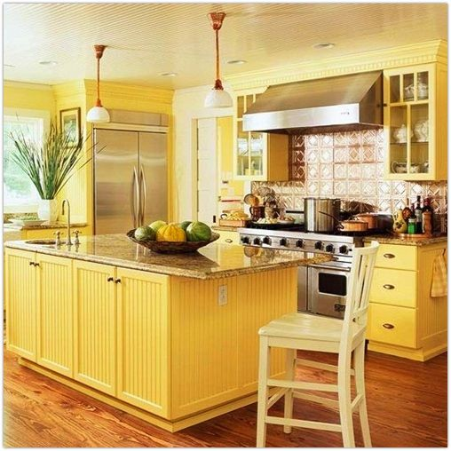 Buttery yellow kitchen the kitchen pinterest Kitchen colour design tips