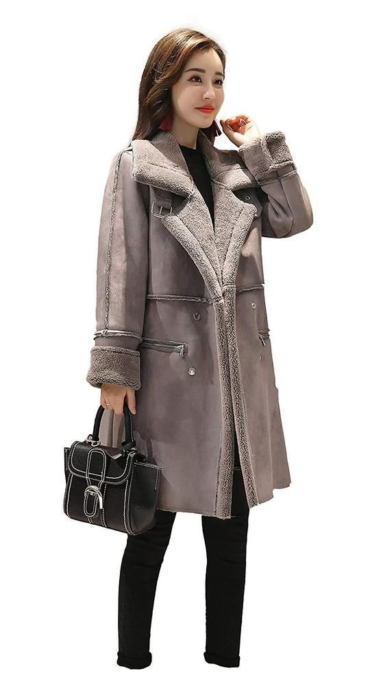 2a6898607bb Women s Warm Trench Lapel Fleece Lined Winter Leather Trench –  Valentafashion