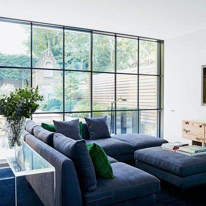 White Living Room Grey Sofa