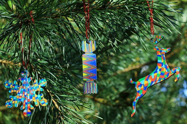 Unique Christmas Decorations, Snowflake Decoration, Cracker Decoration, Stag DecorationsHand Painted Christmas Ornaments, Unique Gifts by Larryware on Etsy