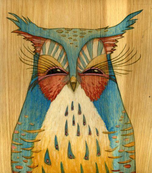 owl painting by Brett Superstar