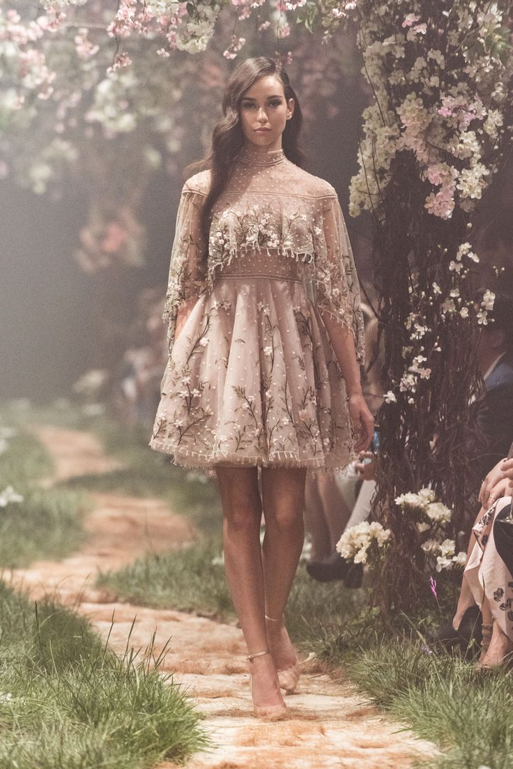 PSS/S1806 – Caped play dress with floral embroidery