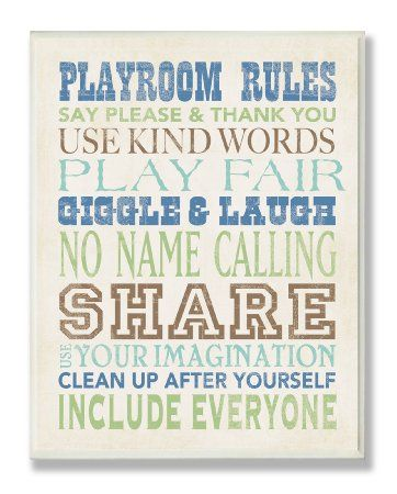 Amazon.com: Playroom Rules