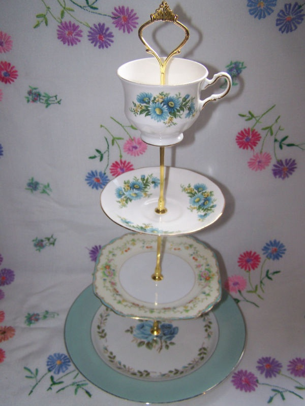 153 best images about tea cake stands on pinterest tea for Beautiful cake stands