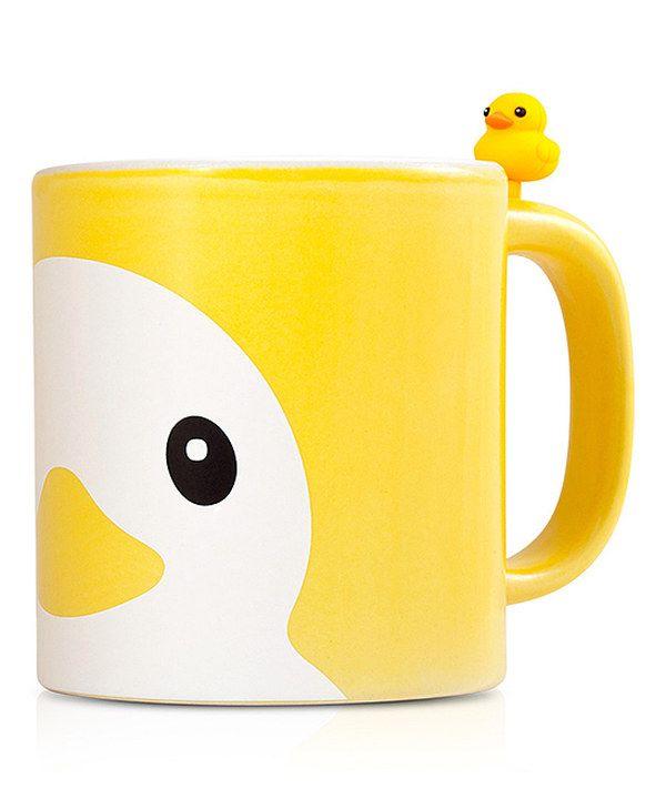 Look what I found on #zulily! Yellow Duck Mug & Tea Bag Clip by Bone #zulilyfinds