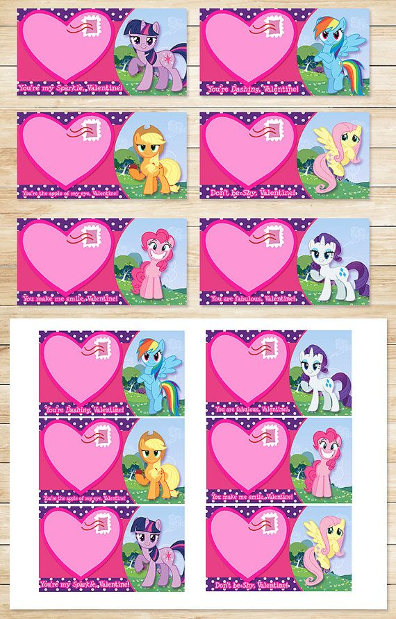 Printable My Little Pony Valentines Day Card By