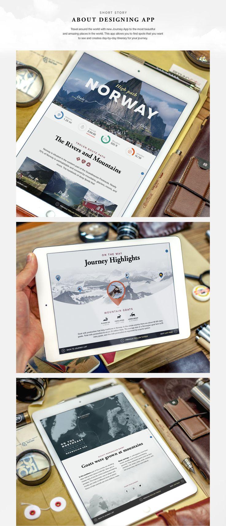 Travel app on Behance