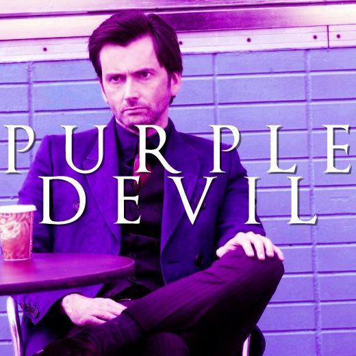 purple devil David Tennant from AKA Jessica Jones.
