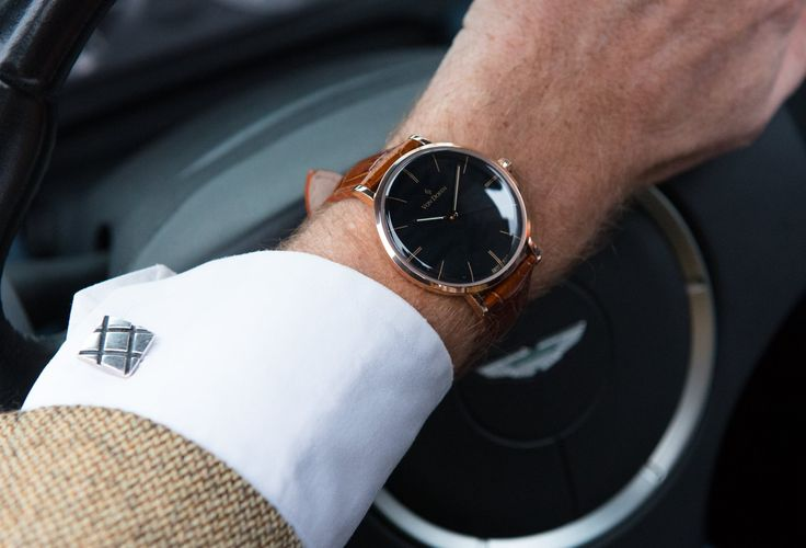 Von Doren Fine Timepieces. Pure Black/Rose Gold in a Aston db9