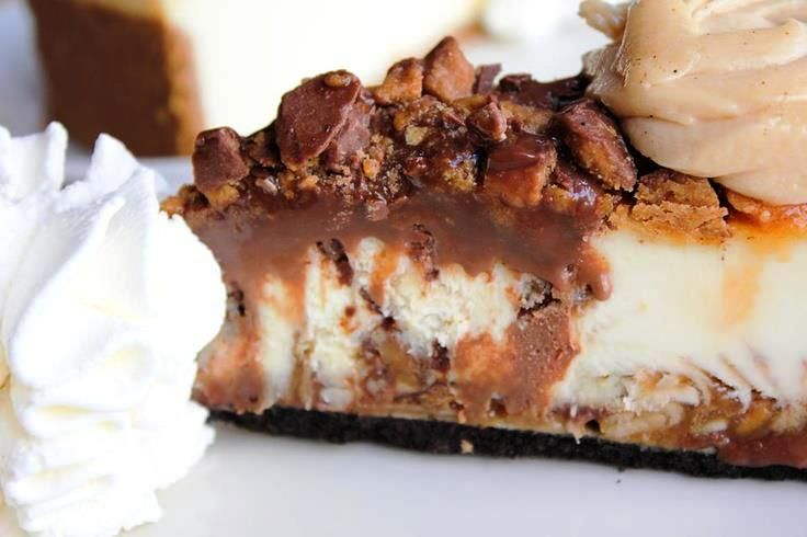 Adam's Peanut Butter Cup Fudge Ripple Cheesecake