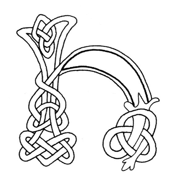 Gaelic Alphabet Pages Coloring