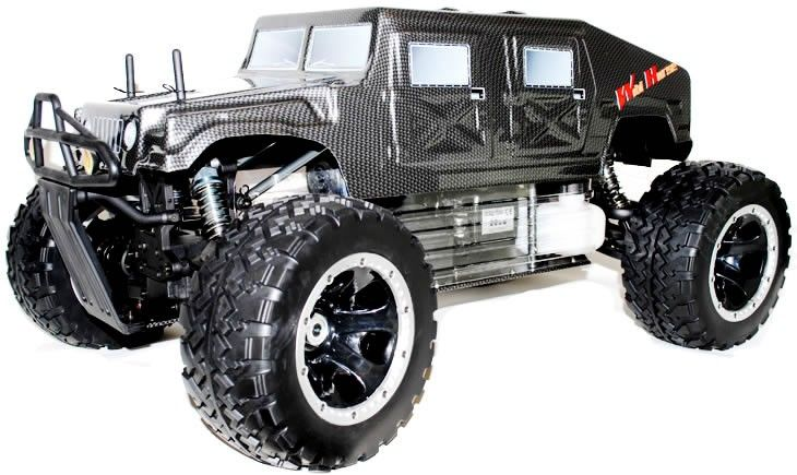 FS Racing 30CC 1/5th Petrol RC Monster Truck - Hummer 2.4Ghz - http://www.nitrotek.co.uk/241.html