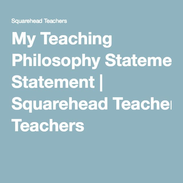 how to write a philosophy of education statement
