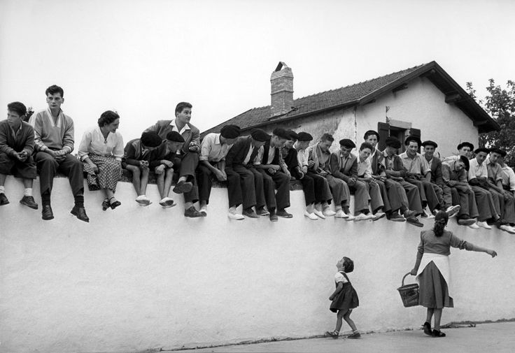 Robert Capa © International Center of Photography  | Near Biarritz. August 1951. A village festival.