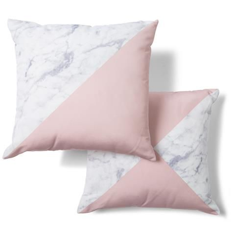 We at BoxCleverInteriors.com.au know a bargain when we see it.  The Marble Splice Cushion from K-Mart is very on trend!