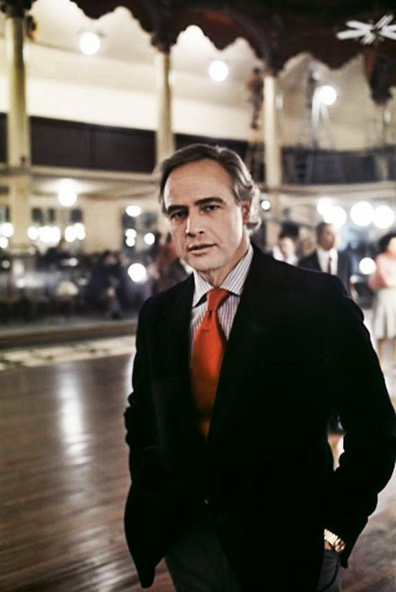 """onlybrando:    Marlon Brando on the set of""""Last Tango In Paris"""" Circa 1973. #Brando"""