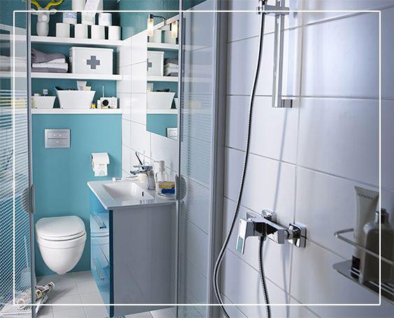 Ensemble de salle de bains cooke lewis volga 60 cm lagon meuble plan vasque miroir for Cooke et lewis meuble salle de bain