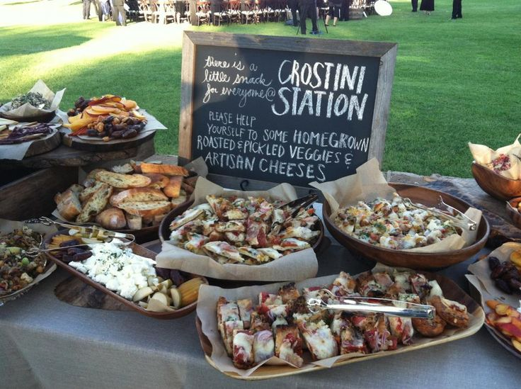1000 ideas about wedding appetizer table on pinterest - Table snack bar but ...