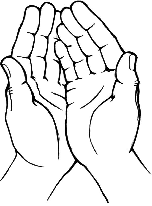 Praying Hands Coloring Page Praying Hands Coloring Pages Clipart Best Heart Coloring Pages Praying Hands Drawings