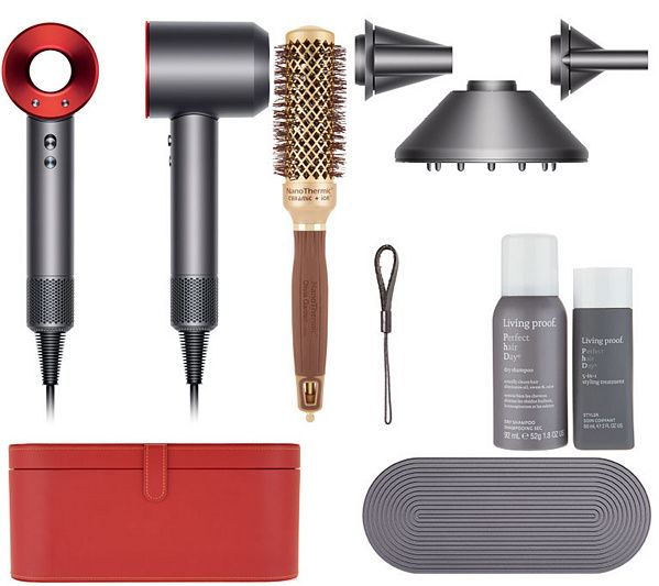 Dyson Supersonic Hair Dryer w/ Olivia Garden, Living Proof