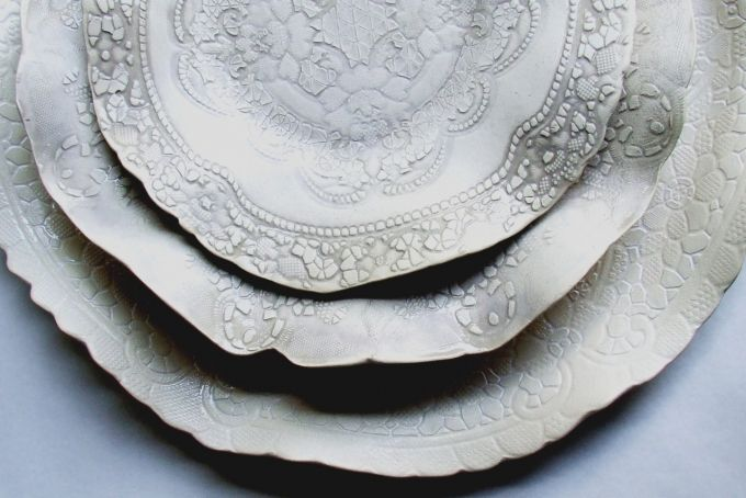 Earthenware platter by Sandy Godwin Clay Creations