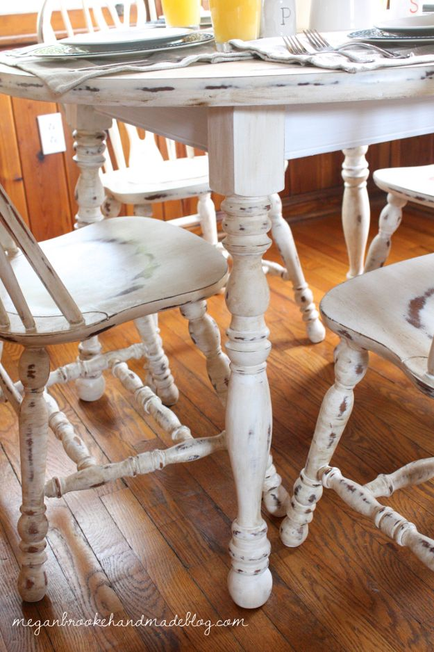 Delightful How To Revamp Your Old Kitchen Table {Using Chalk Paint