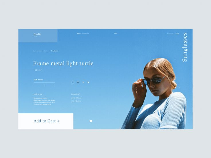 Hello friends, This is the animated version of the Sunglasses product details page for the fashion e-commerce store called Birdie. On this page, visitors can choose quantity, color as well as bet...