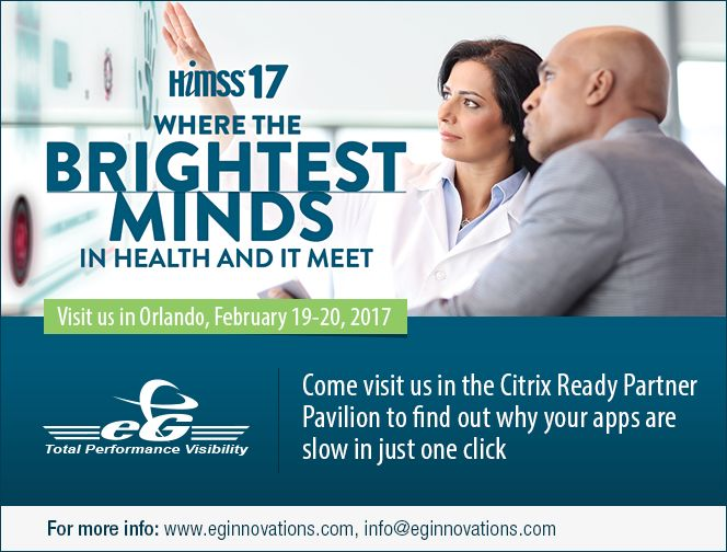 HiMSS 2017. Come see us in the Citrix Ready Partner Pavilion, Booth #2914.