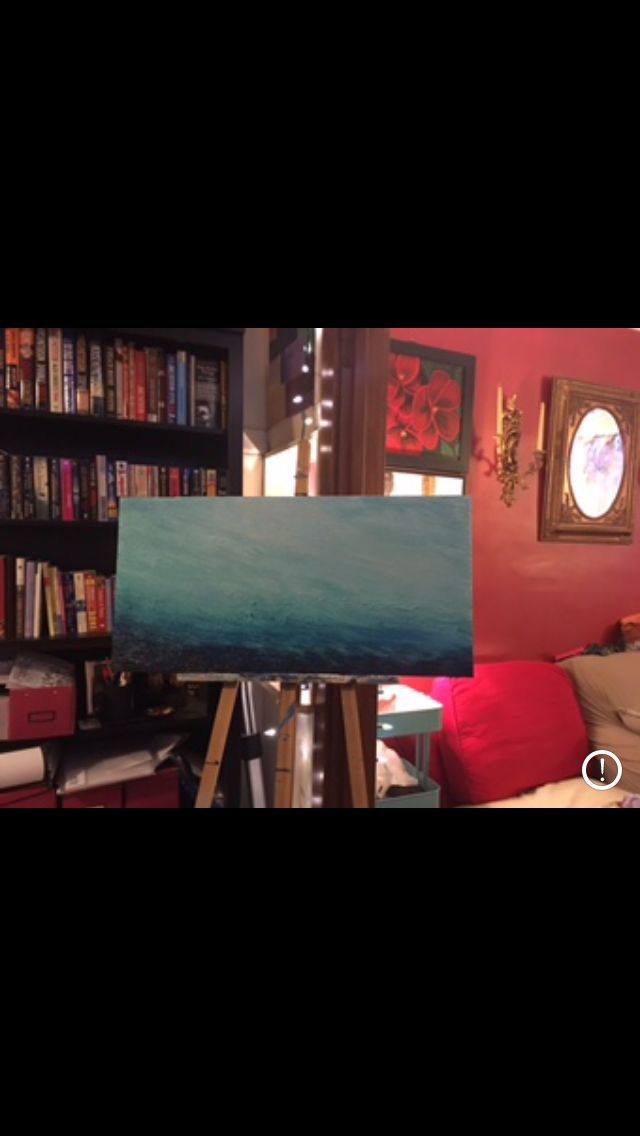 Present for my sister in law Cynell  Seascape 18 x 36 inches Acrylic on canvas