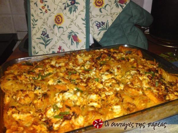 Σπαγγέτι με γαρίδες στο φούρνο #sintagespareas
