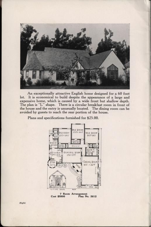 bungalowcraft english and colonial designs - Vintage Storybook House Plans