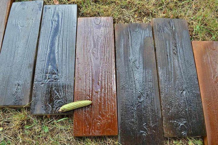 2 Formen Alte Holzbretter Betonform Garten Sprungbrett Pfad Patio S05 Betonschalungen Trittsteine Garten Steinweg