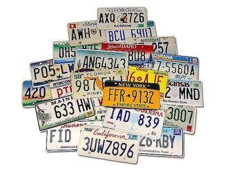 Sparset - Schilder aus 10 verschiedenen US-Bundesstaaten