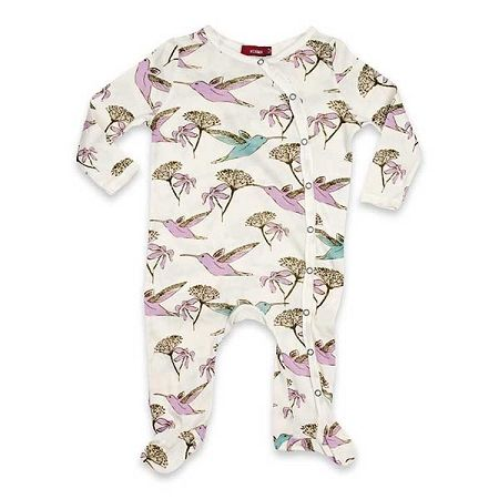 Milkbarn Organic Baby Romper - Hummingbird. GOTS Certified Onesie